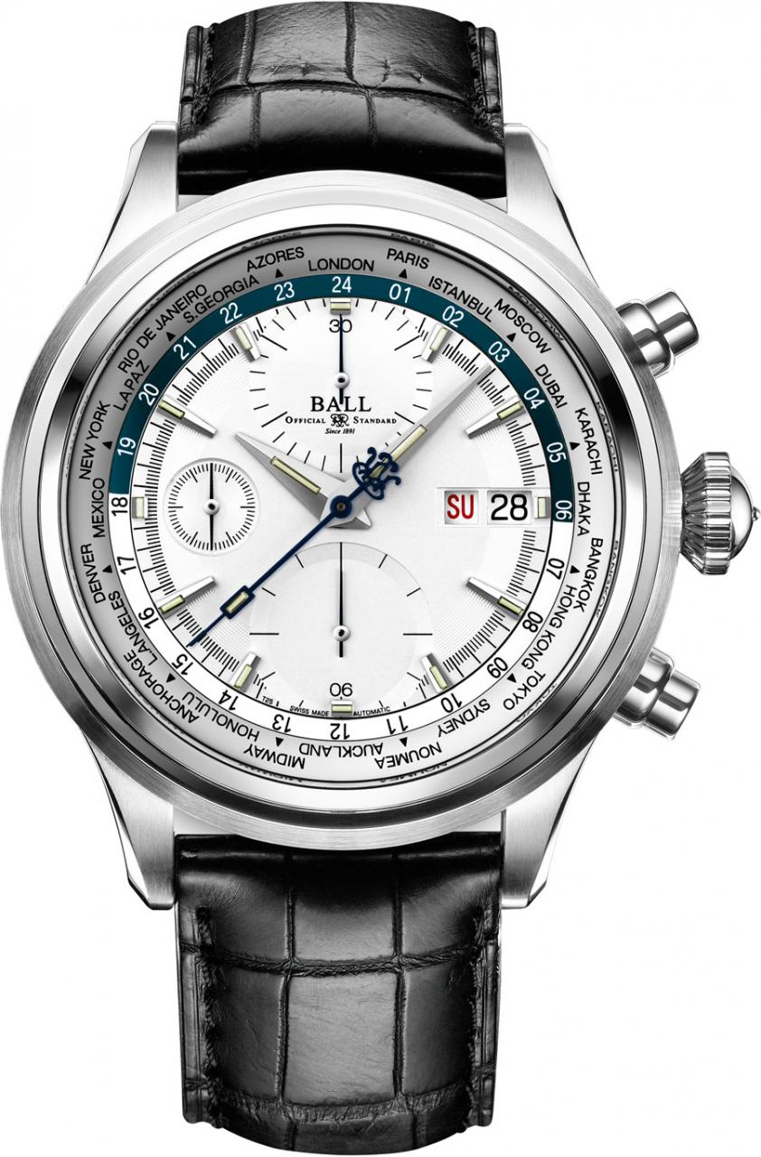 Ball Watch: Trainmaster Worldtime Chronograph